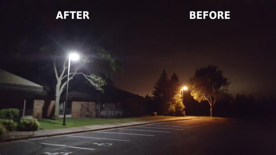 LED pole lights
